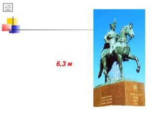 Высота памятника Н.А. Дуровой примерно 6,3 м
