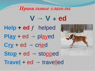 Правильные глаголы