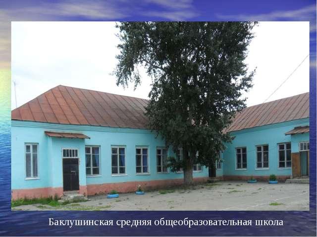 Баклушинская средняя общеобразовательная школа