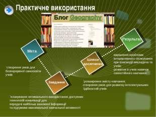 Мета Завдання Шляхи досягнення Результат `планування оптимального використанн