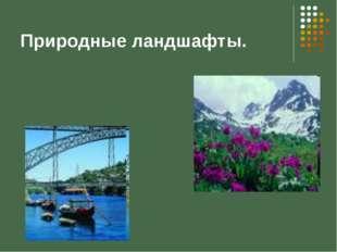 Природные ландшафты.