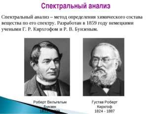 Густав Роберт Кирхгоф 1824 - 1887 Роберт Вильгельм Бунзен 1811 - 1899 Спектра