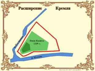 Кремля р. Москва р. Неглинная Иван Калита 1339 г. Расширение Мусатова О.Ю. ГБ