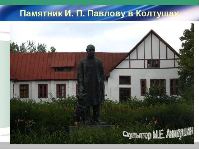 Памятник И. П. Павлову в Колтушах