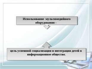 Использование мультимедийного оборудования - цель успешной социализации и инт