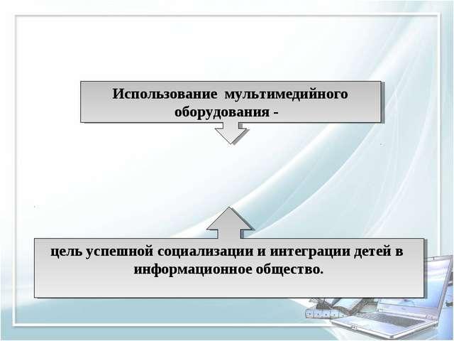 Использование мультимедийного оборудования - цель успешной социализации и инт...