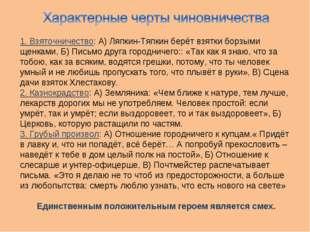 1. Взяточничество: А) Ляпкин-Тяпкин берёт взятки борзыми щенками, Б) Письмо д