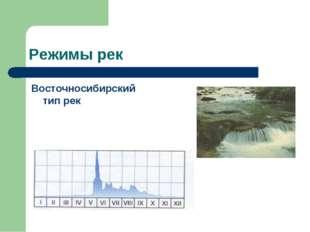 Режимы рек Восточносибирский тип рек