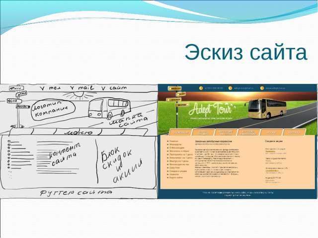 Эскиз сайта