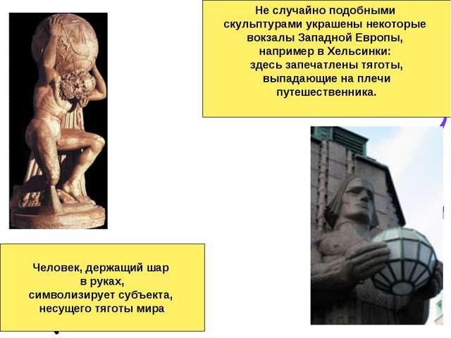 Человек, держащий шар в руках, символизирует субъекта, несущего тяготы мира Н...
