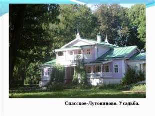 Спасское-Лутовиново. Усадьба.