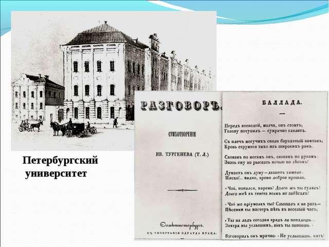 Петербургский университет