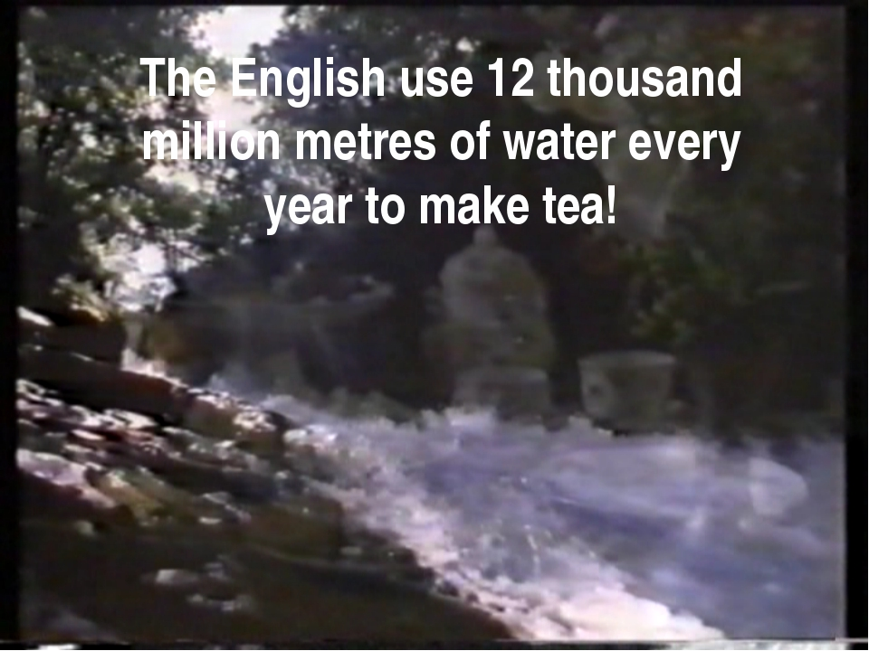 The English use 12 thousand million metres of water every year to make tea!