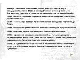 Аввакум - ревнитель православия, отчего пришлось бежать ему от возмущенной па