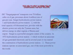 "JSC ""Surgutgasprom"" transports over 70 billion cubic m of gas, processes abou"