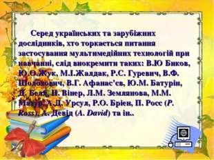 Серед українських та зарубіжних дослідників, хто торкається питання застосув