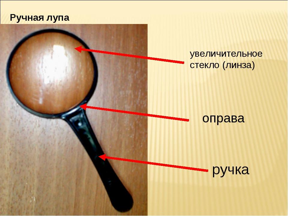 Ручная лупа увеличительное стекло (линза) оправа ручка