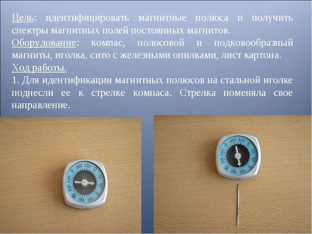 Цель: идентифицировать магнитные полюса и получить спектры магнитных полей по...