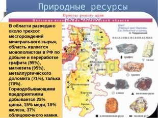 Природные ресурсы региона В области разведано около трехсот месторождений мин