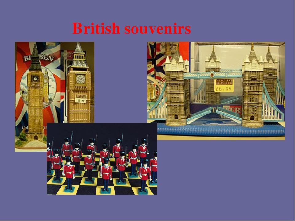 British souvenirs
