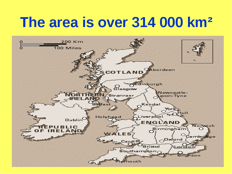 The area is over 314 000 km²