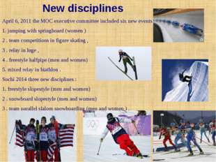 New disciplines April 6, 2011 the MOC executive committee included six new ev