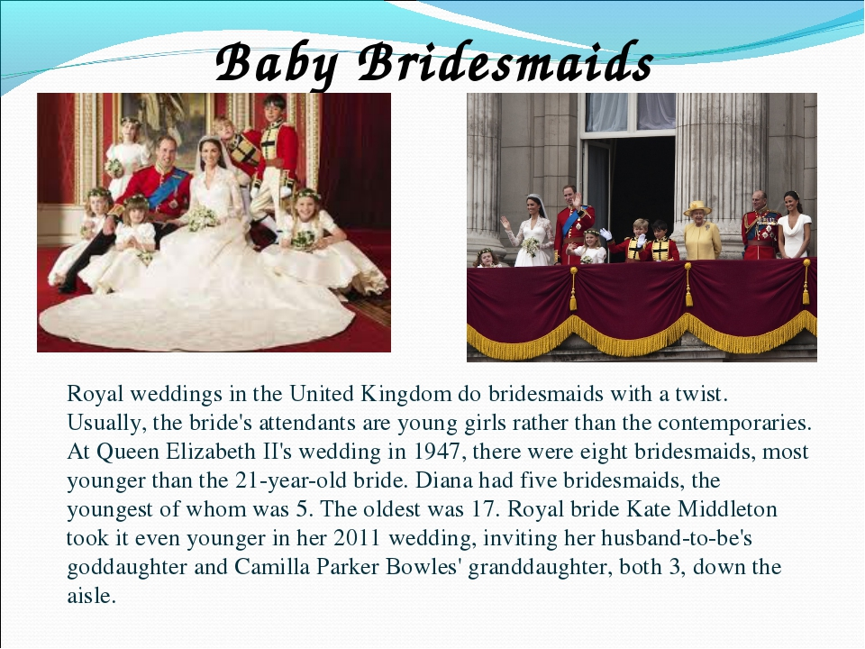 Baby Bridesmaids Royal weddings in the United Kingdom do bridesmaids with a t...