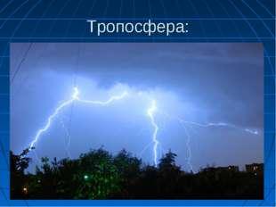 Тропосфера: