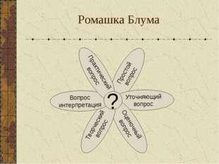 Ромашка Блума Простой вопрос Уточняющий вопрос Оценочный вопрос Творческий во