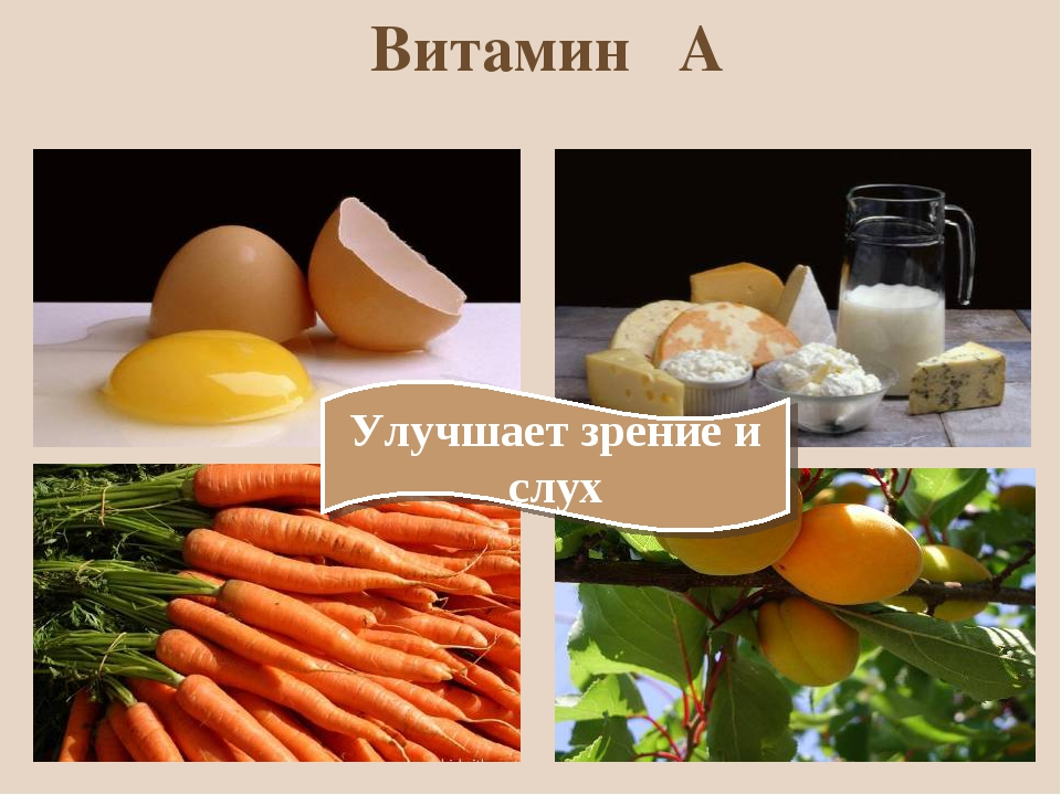 Витамин А Улучшает зрение и слух