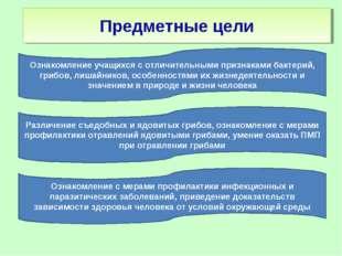 Различение съедобных и ядовитых грибов, ознакомление с мерами профилактики от