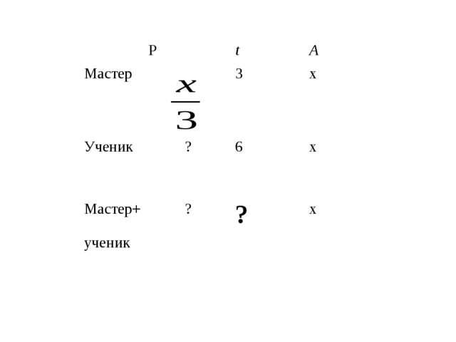 РtА Мастер3x Ученик?6x Мастер+ученик??x