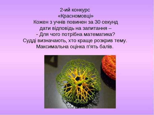 2-ий конкурс «Красномовці» Кожен з учнів повинен за 30 секунд дати відповідь...