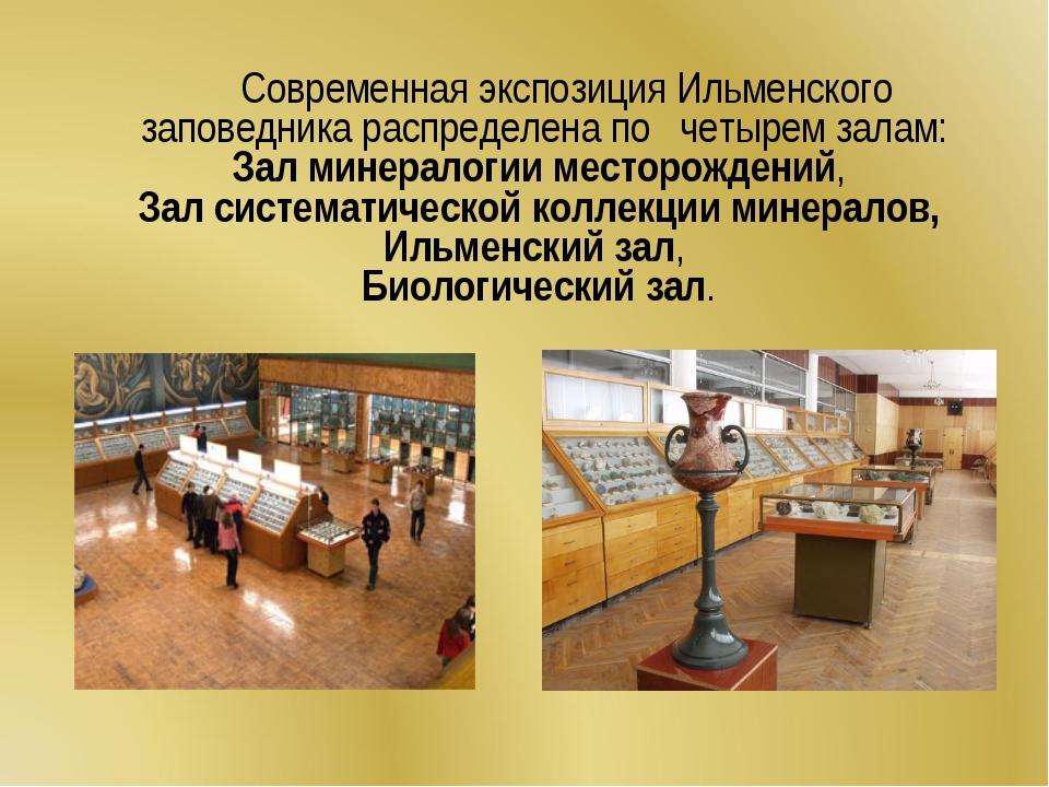 Современная экспозиция Ильменского заповедника распределена по четырем залам...