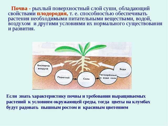 Почва - рыхлый поверхностный слой суши, обладающий свойствами плодородия, т....