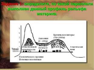 Задание 1: определите, по какой параллели выполнен данный профиль рельефа мат