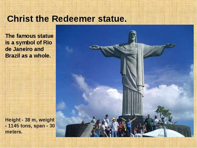 Christ the Redeemer statue. The famous statue is a symbol of Rio de Janeiro a...