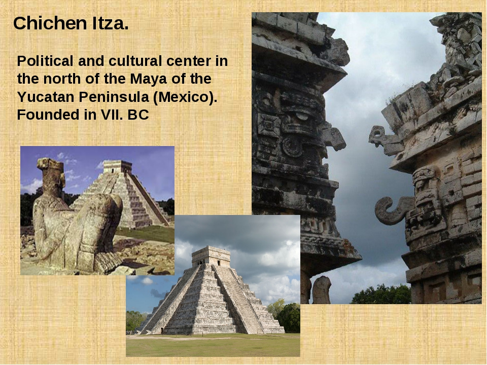 Chichen Itza. Political and cultural center in the north of the Maya of the...