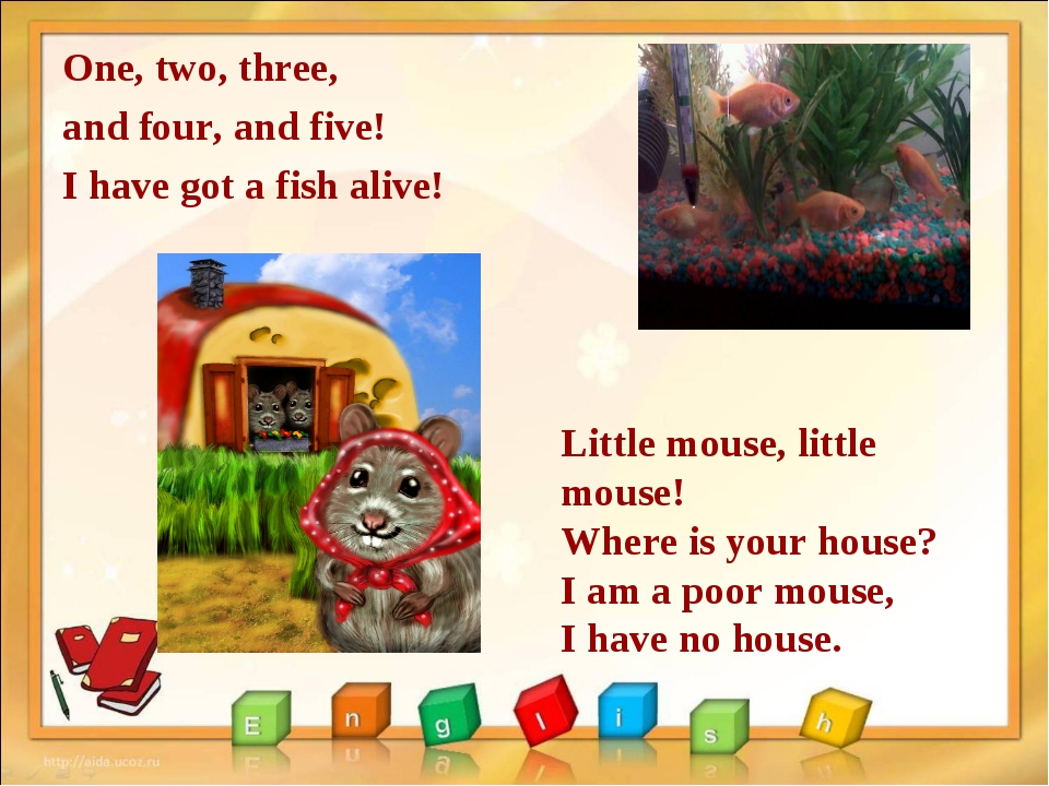 One, two, three, and four, and five! I have got a fish alive! Little mouse, l...