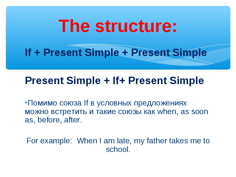 If + Present Simple + Present Simple Present Simple + If+ Present Simple Поми...