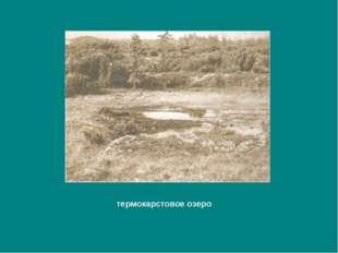 термокарстовое озеро