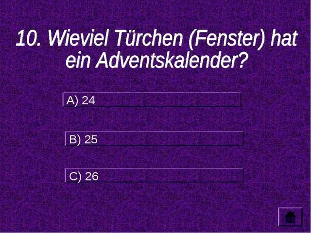 A) 24 B) 25 C) 26