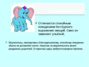 «Слонёнок» (III) Медлительны, невозмутимы и благодаря ровному, спокойному пов