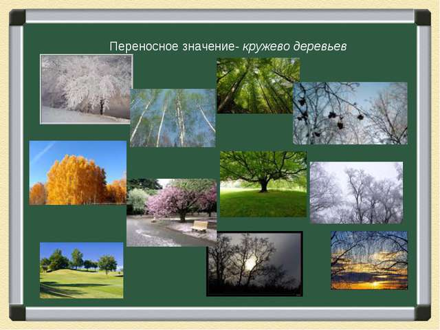 Переносное значение- кружево деревьев