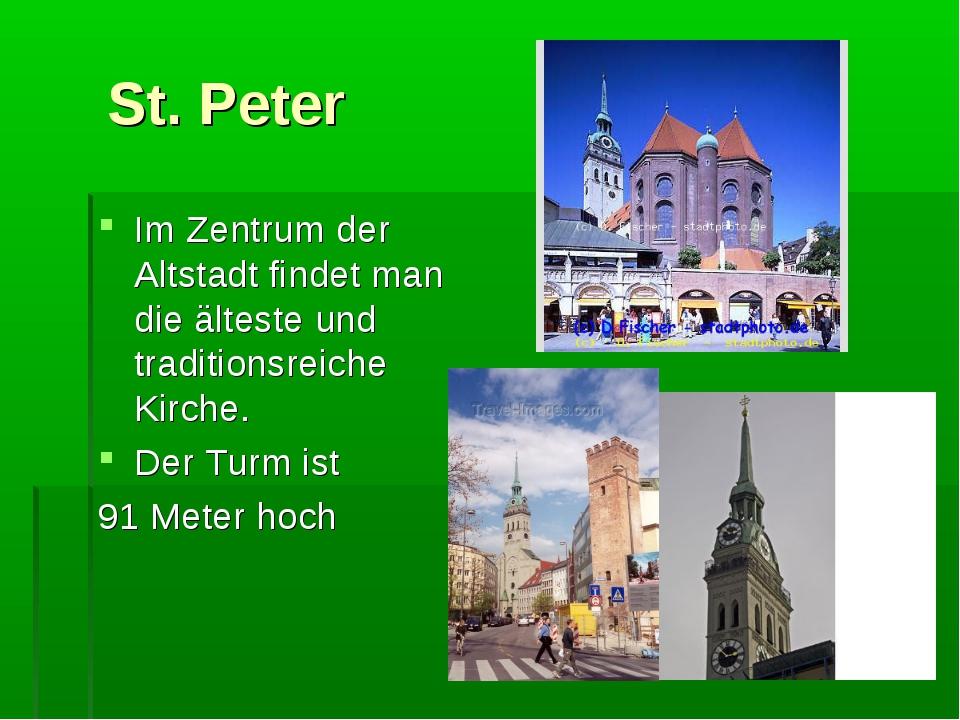 St. Peter Im Zentrum der Altstadt findet man die älteste und traditionsreich...