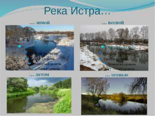 Река Истра… … зимой
