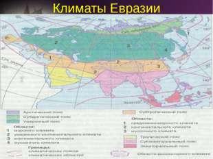 Климаты Евразии 1