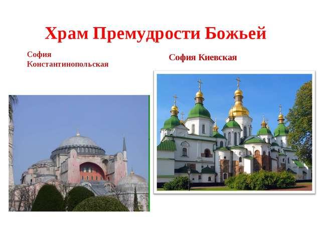 Храм Премудрости Божьей София Константинопольская София Киевская