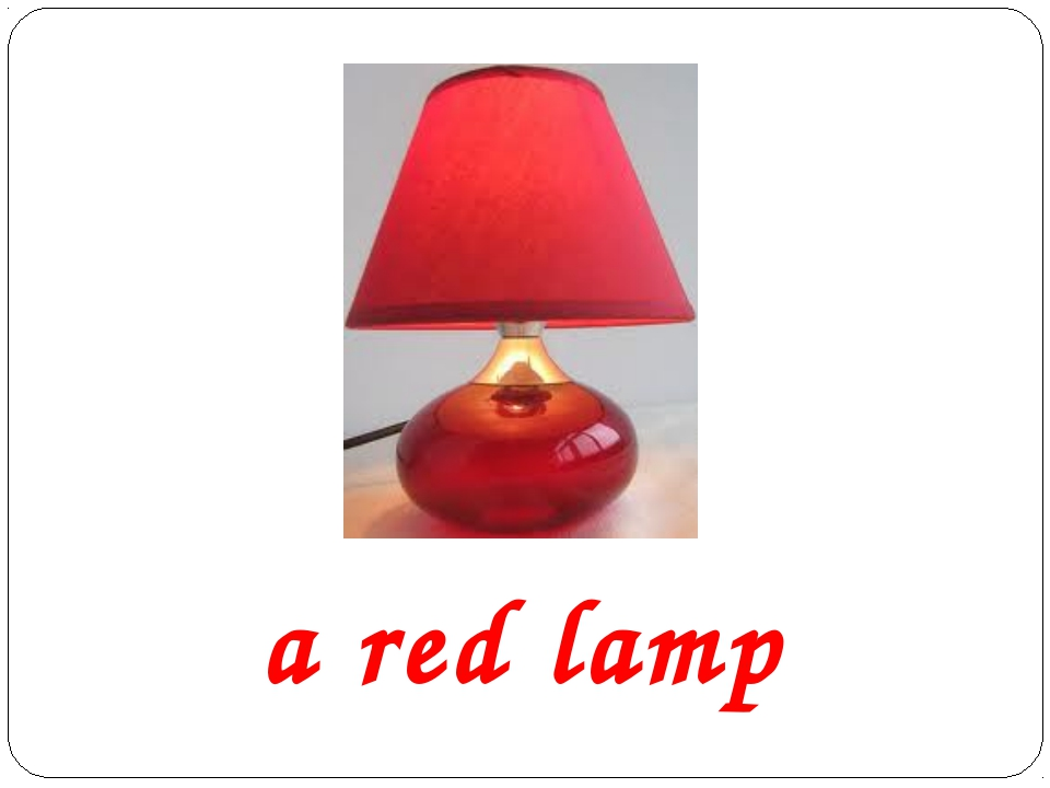a red lamp