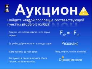 Найдите каждой пословице соответствующий пункт из второго столбца Слышно, что